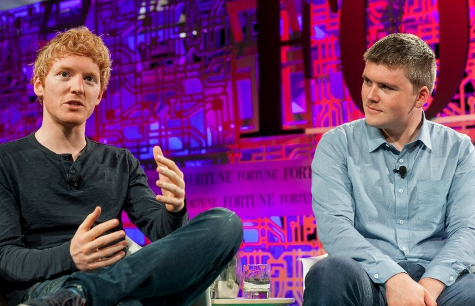 Fortune Brainstorm Tech, Aspen, CO July 15th, 2015   9:30 AM 1:2 Patrick and John Collison, Co-founders, Stripe Interviewer: Leena Rao, Fortune  Photograph by Kevin Moloney/Fortune Brainstorm Tech | Attribution-NonCommercial-NoDerivs Creative Commons